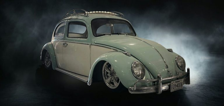 1961 Volkswagen Beetle Jer fab air ride kit installed by rhr customs    vintage Speed roof rack.    Kicker Stero system the customs Sketchy's Speed Shop upholstery installed by Sketchy's Speed Shop
